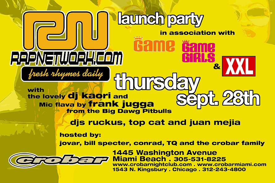 Rap Network Launch Party at Crobar in Miami Beach