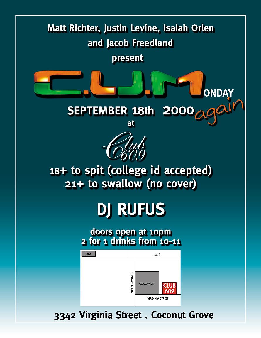 C.U.M. Again with DJ Rufus at Club 609