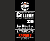Planet Reggae and Diamonds and Pearls College ID Ticket - Rascals Graphic Designs