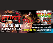 Black Out Party at The Spirit International - Spirit International Graphic Designs