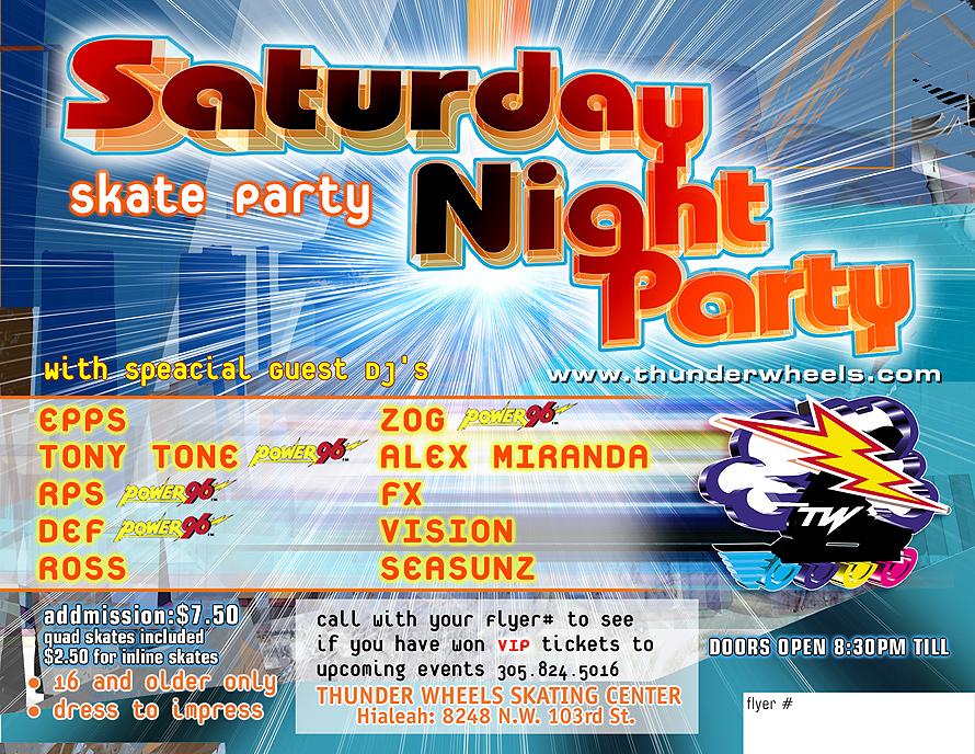 Satuday Night Party at Thunder Wheels