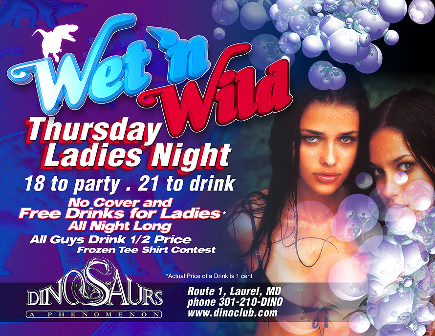 Wet and Wild at Dinosaurs Nightclub