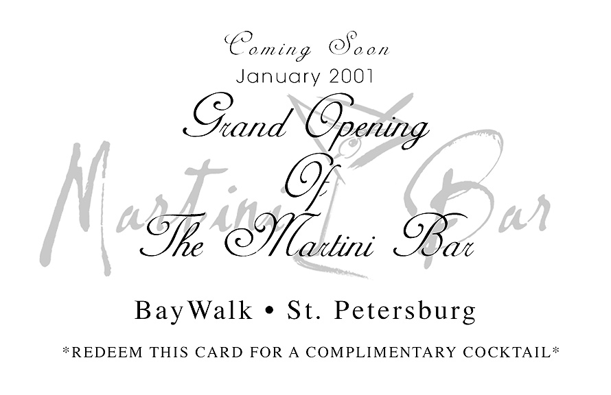 Martini Bar BayWalk Grand Opening