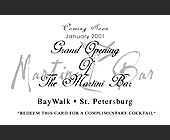 Martini Bar BayWalk Grand Opening - created January 02, 2001
