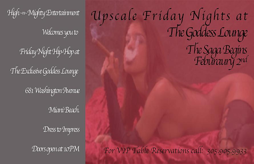 Goddess Nightclub Lounge Fridays
