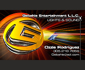 Gebahie Entertainment Business Card - tagged with sound