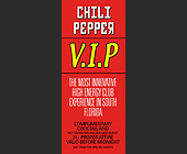 The Chili Pepper VIP at Ft. Lauderdale - tagged with 200 w