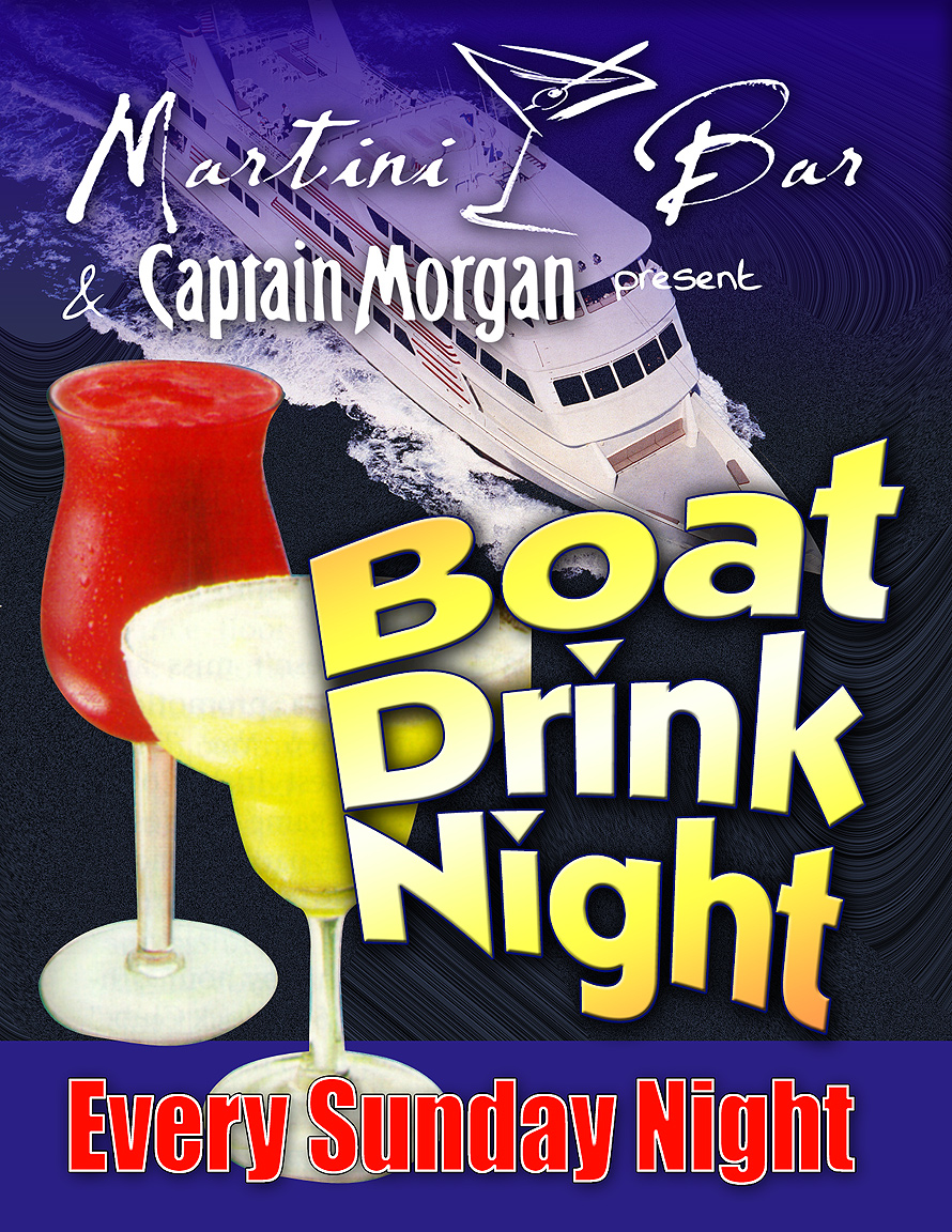 Martini Bar Boat Drink Night