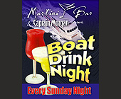 Martini Bar Boat Drink Night - Marine and Boating Graphic Designs