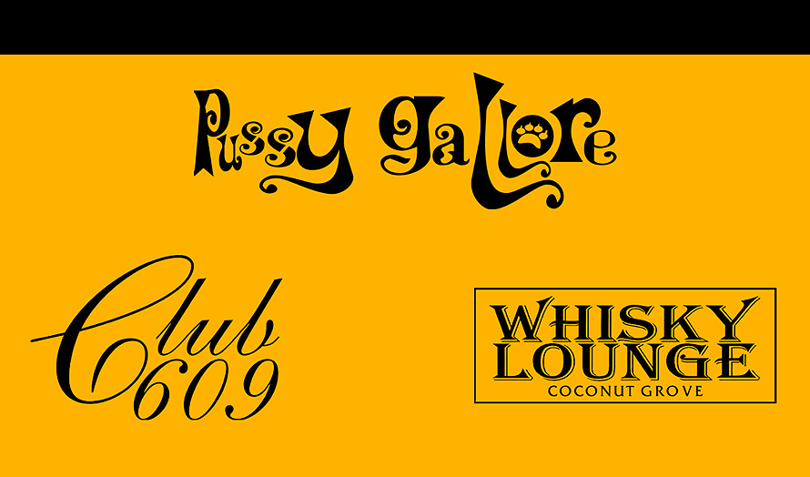 Club 609 and Whiskey Lounge Business Card