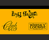Club 609 and Whiskey Lounge Business Card - tagged with p h o n e