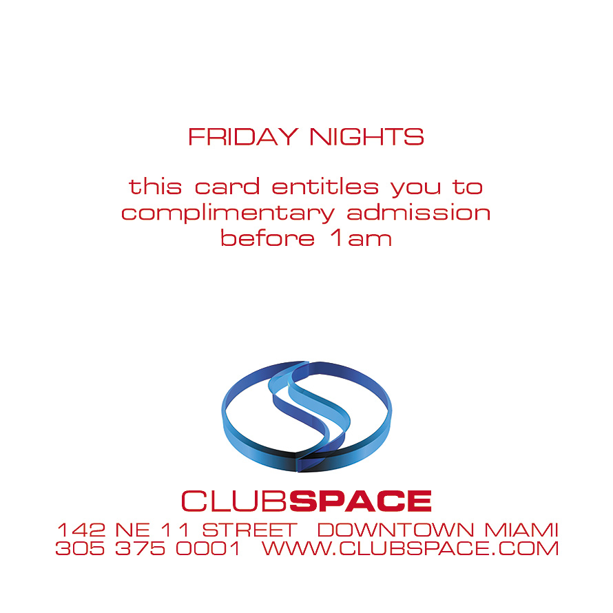 Community Blood Centers of South Florida Complimentary Pass to Club Space