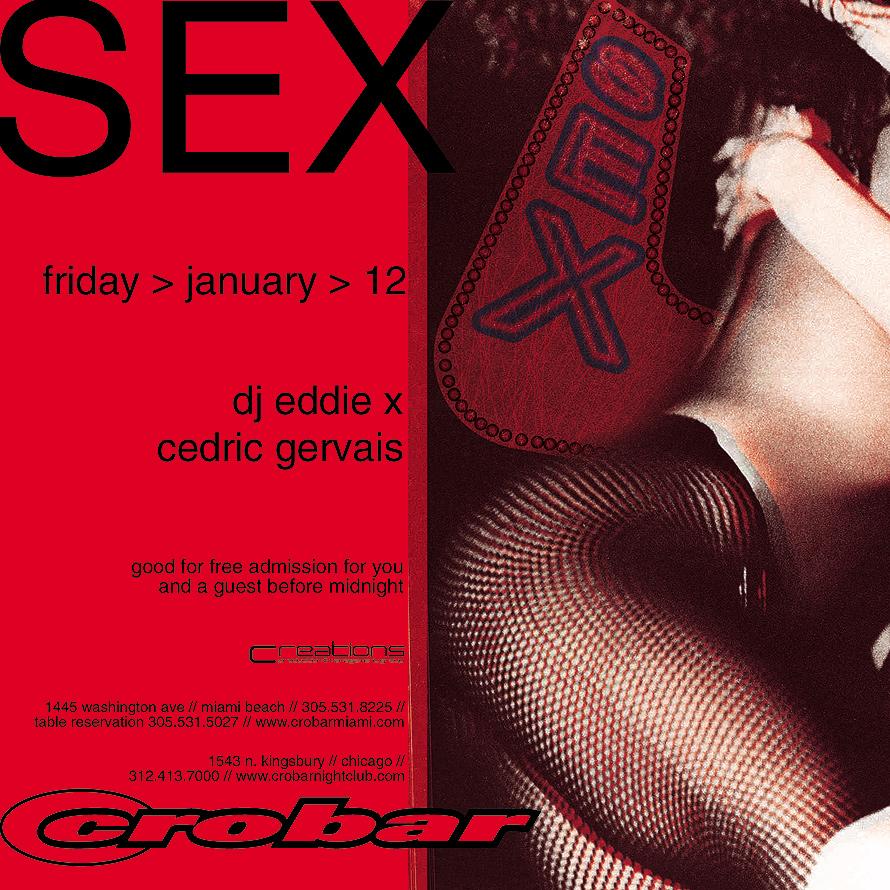 Sex at Crobar Free Admission