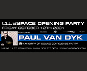 Club Space Opening Party Paul Van Dyk - tagged with paul van dyk