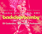 DJ Constantino Mixmaster at Back Door Bamby in Crobar - created October 11, 2001