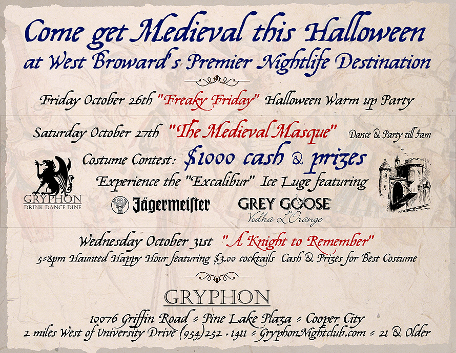 The Medieval Masque Halloween at Gryphon