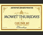 Mowet Thursdays at CPA - created October 02, 2001