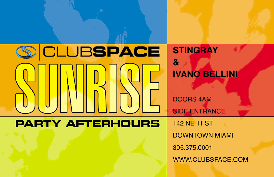 Sunrise Party After Hours at Club Space