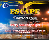 Escape at Nomenclature - tagged with doors open at 9pm