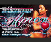 Amor Fridays at Club 109 - tagged with 3d letters