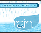 This Saturday the Forecast is For Rain - created October 26, 2001