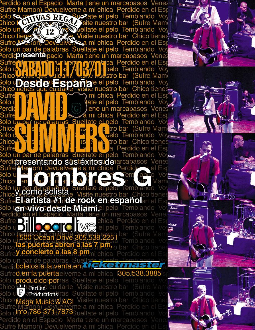 David Summers at Billboard Live