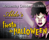 Aldo's Fiesta de Halloween - tagged with cash prizes