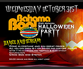 Bahama Boo Halloween Party - Bahama Boom Beach Club Graphic Designs