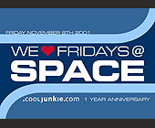 We Love Fridays at Club Space - Club Space Graphic Designs