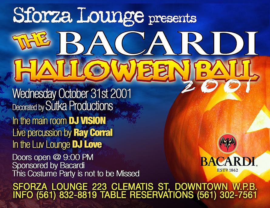 Sforza Lounge Presents The Bacardi Halloween Ball