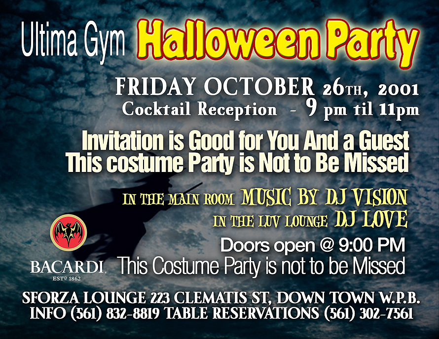 Ultima Gym Halloween Party at Sforza Lounge in West Palm Beach
