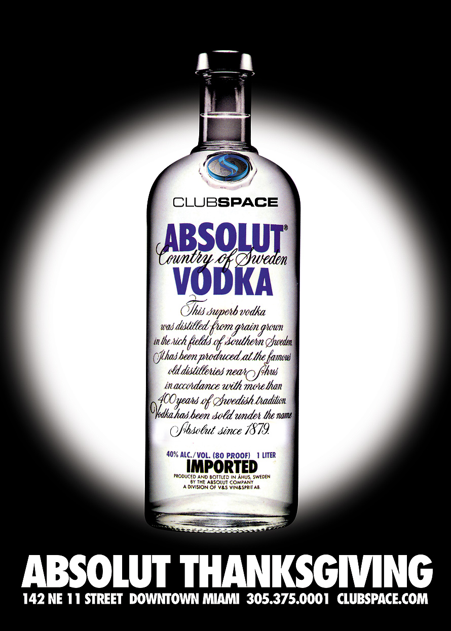 Absolut Thanksgiving Event at Club Space