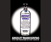 Absolut Thanksgiving Event at Club Space - tagged with alcohol bottle