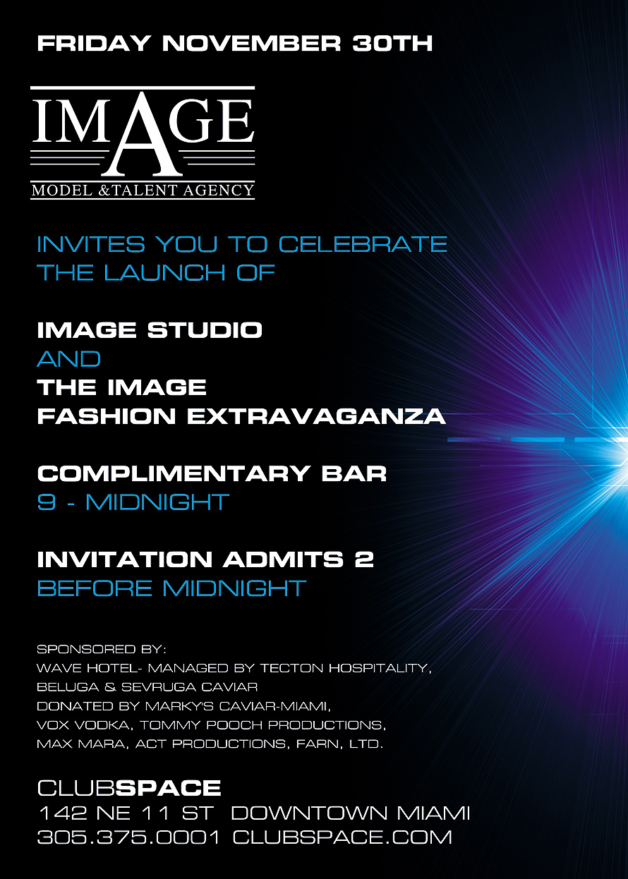 Image Model and Talent Agency Launch Celebration at Club Space