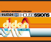 House Sessions at Club Space - Club Space Graphic Designs