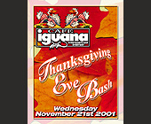 Thanksgiving Bash at Cafe Iguana - tagged with cartoon turkey