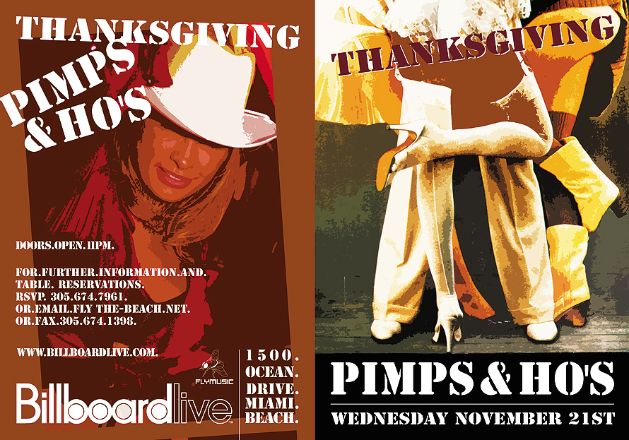 Thanksgiving Pimps and Ho's