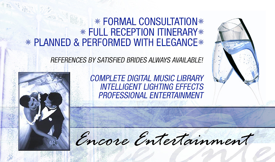 Encore Entertainment Specializing In Wedding Ente