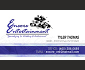 Encore Entertainment Specializing In Wedding Ente - Oklahoma Graphic Designs
