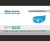 Rain Nightclub Business Card - created December 2001