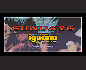 Sundays at Cafe Iguana - tagged with 5.5 x 2.75