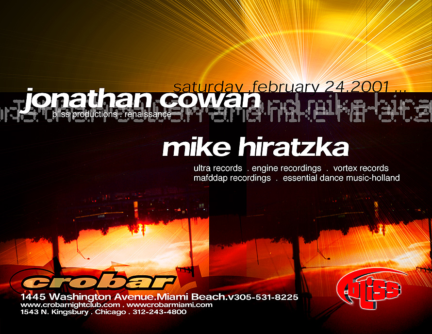 Jonathan Cowan and Mike Hiratzka Jonath at Crobar in Miami Beach