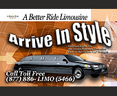 A Better Ride Limousine - tagged with stamp