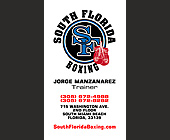 South Florida Boxing with Jorge Manzanarez - created February 16, 2001