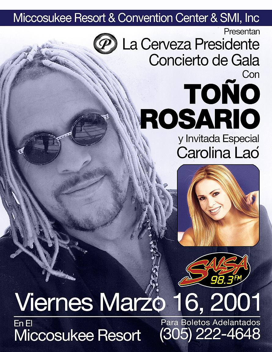 Toño Rosario at  Miccosukee Resort & Convention Center