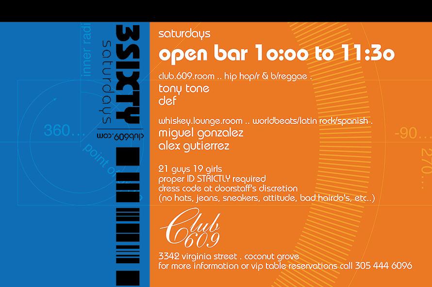 3Sixty Saturdays at Club 609
