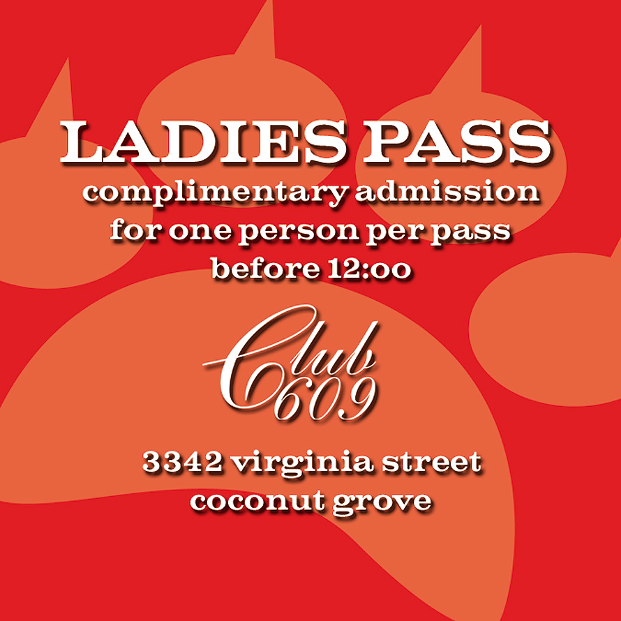 Ladies Pass Pussy Gallore Event at Club 609
