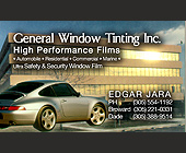 General Window Tinting Inc. High Performance Films - tagged with automobile