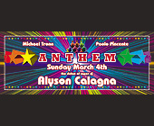 Anthem Calagna at Crobar - 1050x2550 graphic design