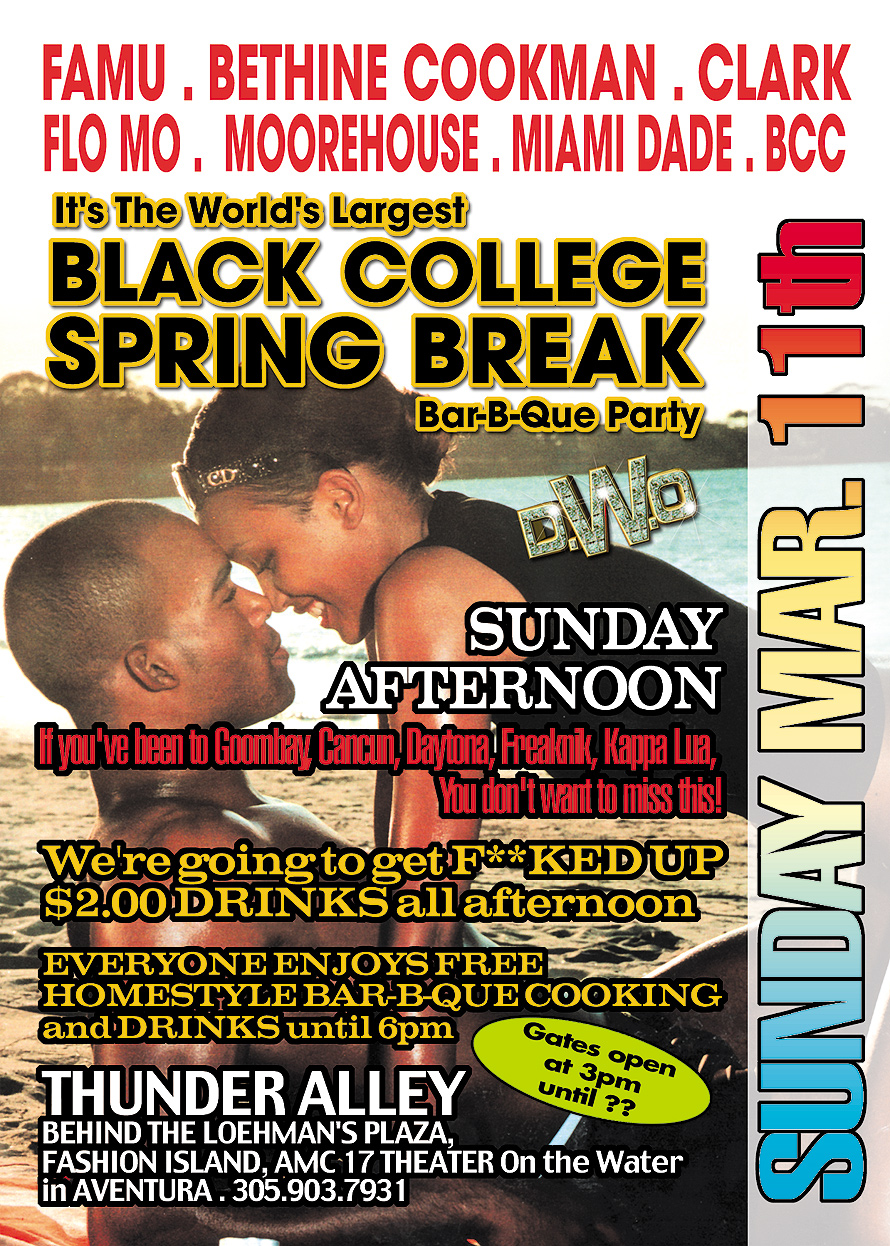 Black College Spring Break Barbecue Party